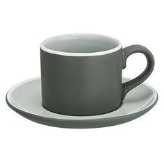 Buy John Lewis Puritan Espresso Cup & Saucer, Grey Online at johnlewis.com