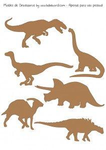 Projeto 365 dias – 041 e 042 Party Decoration, Craft Party, Dinosaur Pattern, Dinosaur Toys, Dinosaur Birthday Party, Wooden Animals, Scroll Saw Patterns, Jurassic World, Jurassic Park