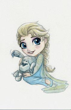 A favorite Disney Villain all cuted up. I love Ursula. She's got .... chutzpah.