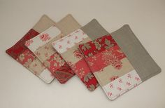 Patchwork coasters by Very Berry Handmade, via Flickr