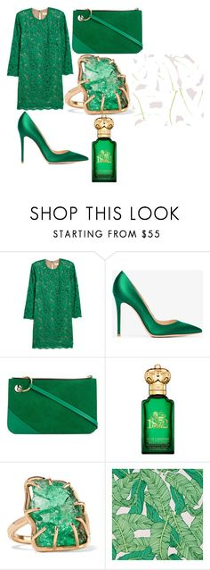 """Без названия #11"" by missis-akvamarine ❤ liked on Polyvore featuring H&M, Gianvito Rossi, J.W. Anderson, Clive Christian, Melissa Joy Manning and Chasing Paper"