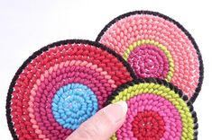 Plastic Canvas Table Runner by CraftyPod, via Flickr - would be cute coasters too