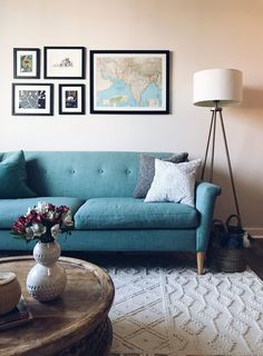 Our Finn Sofa is this apartment dweller's favorite part of her living room.