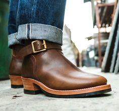 Role Club engineer boots in D.Olive.