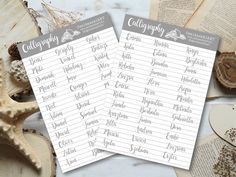 ferfi noci Calligraphy Tutorial, How To Write Calligraphy, Flora, Bullet Journal, Templates, Writing, Personalized Items, Stencils, Plants