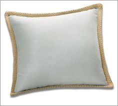Jute Braid Pillow Cover | Pottery Barn  Must have for my living room (in blue smoke color).