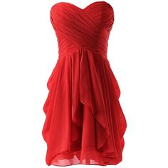 Dressystar Dressystar Chiffon Bridesmaid Dress Short Sweetheart... ($30) ❤ liked…