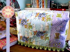 Free tutorial for sewing machine cover by Bari J via sew4home.
