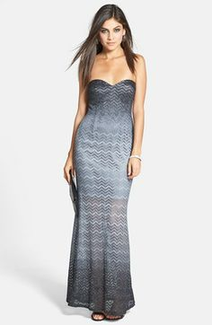 Jump Apparel 'Hannah' Glitter Lace Ombré Gown (Juniors) available at #Nordstrom
