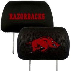 Arkansas Razorbacks 2-Pack Auto Car Truck Embroidered Headrest Covers