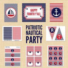 Nautical patriotic stationery pattern inspiration