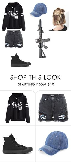 """""""Samantha Barkley"""" by alessiabazzurro on Polyvore featuring WithChic, Converse and Été Swim"""