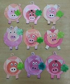 15 Baby Animal Days / Farm Crafts for Kids Pig Crafts, Farm Crafts, New Year's Crafts, Animal Crafts, Diy And Crafts, Crafts For Kids, Paper Crafts, Kindergarten Art Projects, Farm Theme