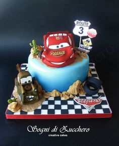 Cars cake...Wow, just wow! for the boys.. too cute