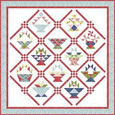 Basket Quilt with other patterns