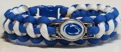 Penn State; Nittany Lions Handmade Paracord Bracelet, Lanyard or key chain #Handmade #PennStateNittanyLions