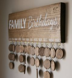 Are you looking for a unique way to keep track of all those birthdays? Try one of our FAMILY Birthdays signs! You can add each member of the