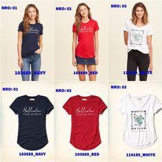 Ofertas Hollister R$37 Hollister, Navy, Red, T Shirt, Tops, Women, Fashion, Blouses, Hale Navy