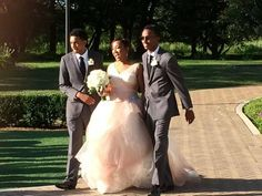 Sons walking bride down the aisle, July 24, 2014