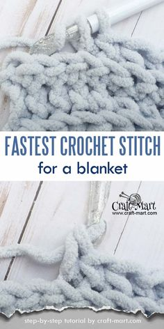 Simple and easy crochet blanket tutorial (FREE Bernat blanket yarn pattern) - Craft-Mart - Easy crochet baby blanket - Fast Crochet, Ribbed Crochet, Crochet Yarn, Crotchet, Crocheted Hats, Crochet Afghans, Crochet Stitches For Blankets, Chunky Crochet Blankets, Chunky Blanket