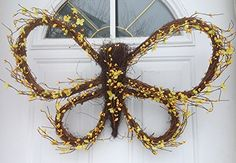 Berry Butterfly Wreath (Yellow) Raz http://www.amazon.com/dp/B00THXB6ZO/ref=cm_sw_r_pi_dp_g.Lavb1339FD4