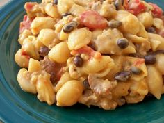 Beefy Shell & Cheese have a great fiesta flavor with salsa and black beans