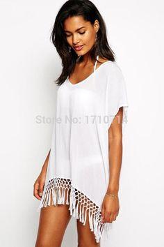 f6b396e217 Short Kimono Sleeve Crochet Swimsuit Cover Up - Buy All Means Women s  Swimwear