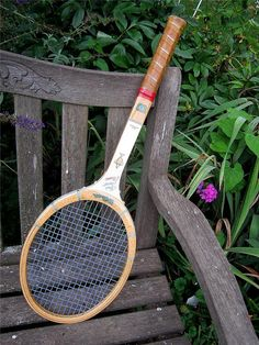Vintage CHRIS EVERT TENNIS RACQUeT  by LavenderGardenCottag