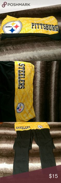 Pittsburgh Steelers Leggings Worn maybe once Pittsburgh Steelers leggings NFL Team Apparel  Pants