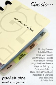 You guys have to get one!! PEGlala Classic Return Visit Book -- Special Price: $20.97 to $16.78