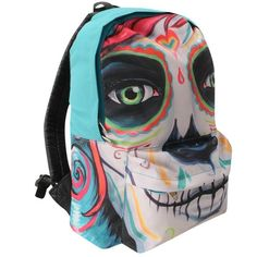 Iron Fist Womens Ladies Pocket Backpack Rucksack Luggage Shoulder Bag Printed