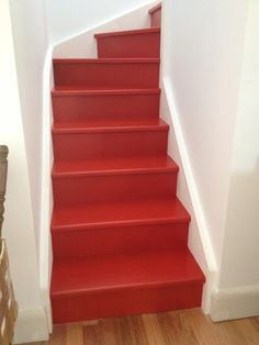 Best Red Stairs Always Lead Somewhere I Love This Painted Red 400 x 300