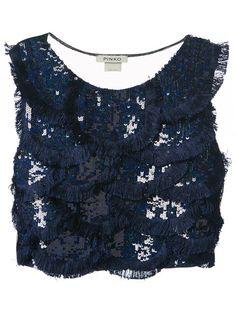 Shop now: Pinko sequin crop top