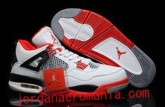 "Air Jordans 4 (IV) ""Fire Red Rouge"""