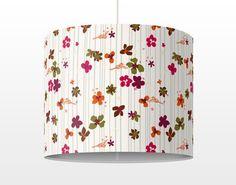 #Hängelampe - Floral Pattern - Lampe - Schirmlampe #Weiß #retro #Stil #Vintage #Look #70er #flower power #barock #wanddeko #möbel