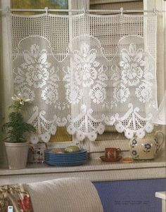 more filet crochet patterns including these curtains