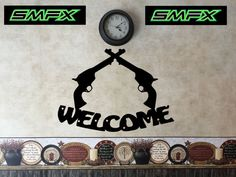 welcome sign house guns by SCHROCKMETALFX on Etsy