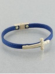Cobalt Blue Cross Bracelet-