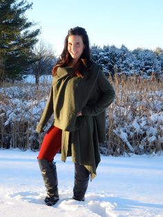 Cozy-chic military green cardigan wrap by by SharksBitesOfLife Ultra luxurious premium 3-end french terry wrap! So comfortable I want to live in it!!! #fashion #womensapparel #coverup #fall #winter