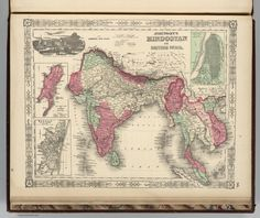 old map- india
