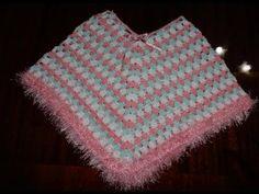 Poncho em crochê para crianças muito facil e bonito Parte 1 - Crochet Poncho - Gancillo Poncho - YouTube