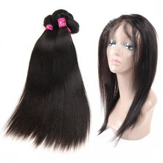 One More Indian Virgin Human Hair Straight Hair 3 or 4 Bundles With 360 Frontal,Indian Virgin Weft Straight Virgin Remy Hair Extensions #indianhair #360frontal