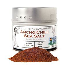 Gustus Vitae Ancho Chile Sea Salt 31 OunceGourmet Salt -- You can find out more details at the link of the image.