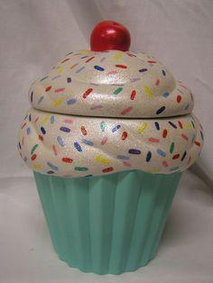 Rainbow Sprinkles Turquoise Crunch Cupcake Jar