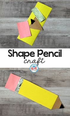At the beginning of the school year, I am always looking for easy and fun school themed activities for my students like this Simple Shape Pencil Craft. * For more information, visit image link. Preschool Projects, Kindergarten Crafts, Daycare Crafts, School Art Projects, Classroom Crafts, Preschool Crafts, Kid Crafts, Math Crafts, Back To School Kids
