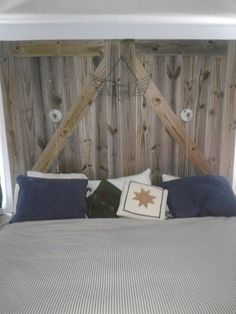 Items Similar To Custom Made Barn Door Headboard Queen With Track Hardware And Night Lights On Etsy