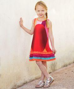 Another great find on #zulily! Orange Ruffle Dress - Toddler & Girls #zulilyfinds