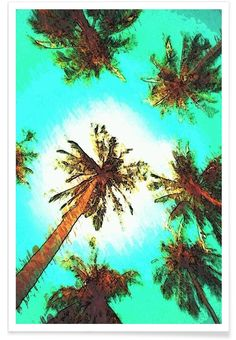 Summer Palm Trees. Paradise Art Print by Xchange Studio now on Juniqe.com | Art. Everywhere.