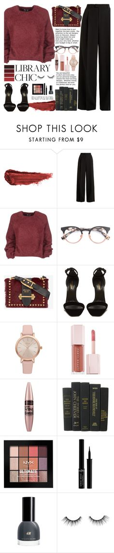 """""""library chic"""" by trissnr ❤ liked on Polyvore featuring By Terry, RED Valentino, Tom Ford, Prada, Yves Saint Laurent, Vivani, Puma, Maybelline, NYX and Giorgio Armani"""
