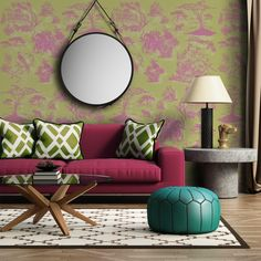 Toile Rosa e Verde Mostarda